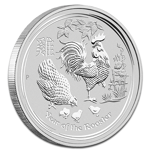 5 oz Lunar II Rooster | Silver | 2017
